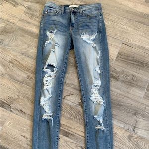 Like New Distressed Jeans